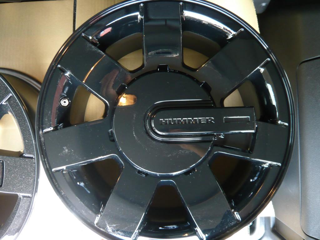 HUMMER H3 純正ホイール ブラック塗装済み
