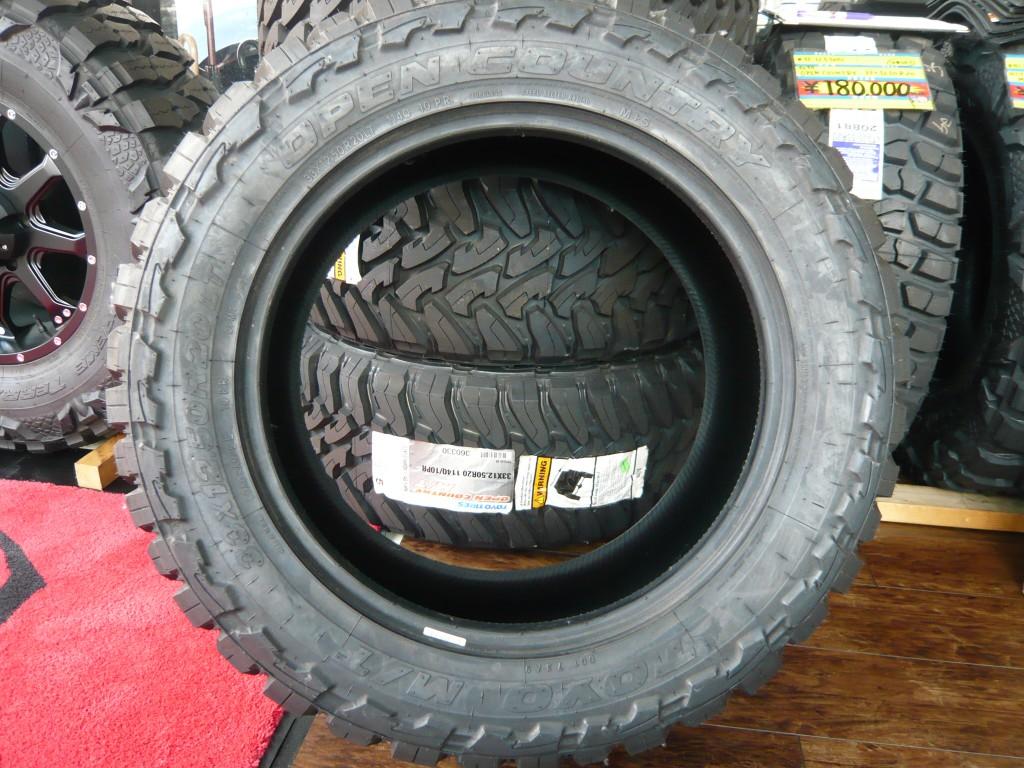 商品名TOYOタイヤ OPEN COUNTRY 33×12.50R20LT 4本セット