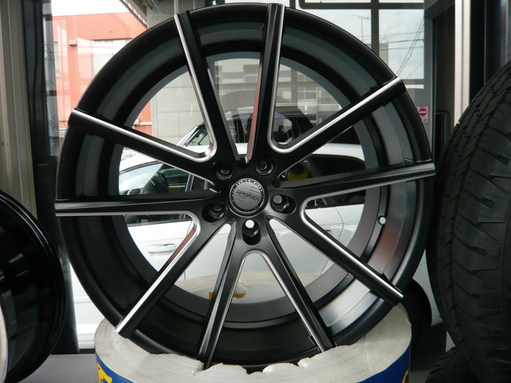 SPORZAホイール MILLED SATIN BLACK 22インチ 当社指定タイヤ付!! 4本セット