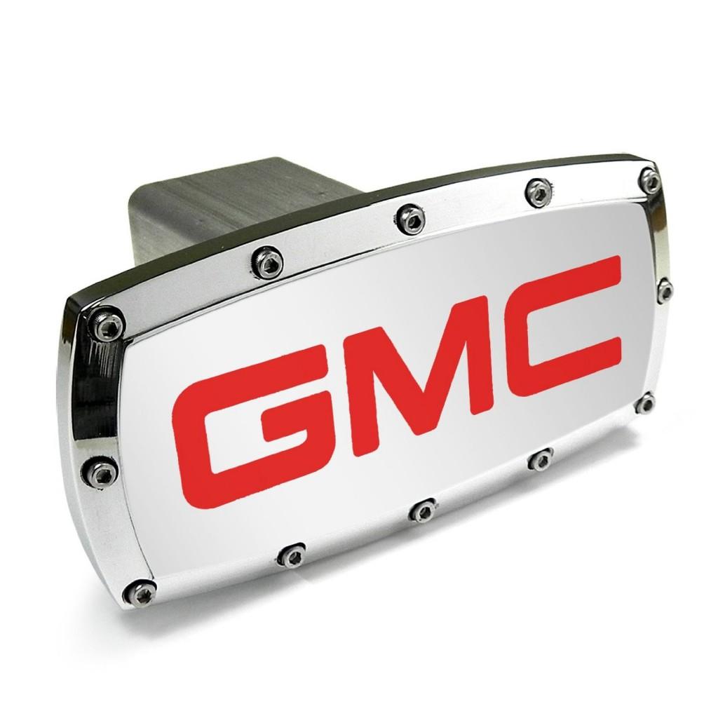 ビレットアルミニウムヒッチカバー GMC(RED)